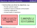 objectives risks and opportunities