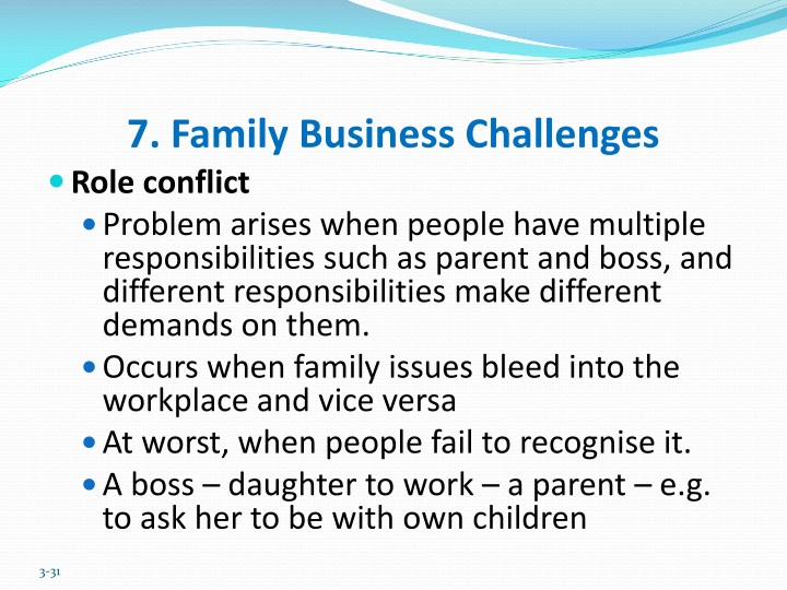 7. Family Business Challenges