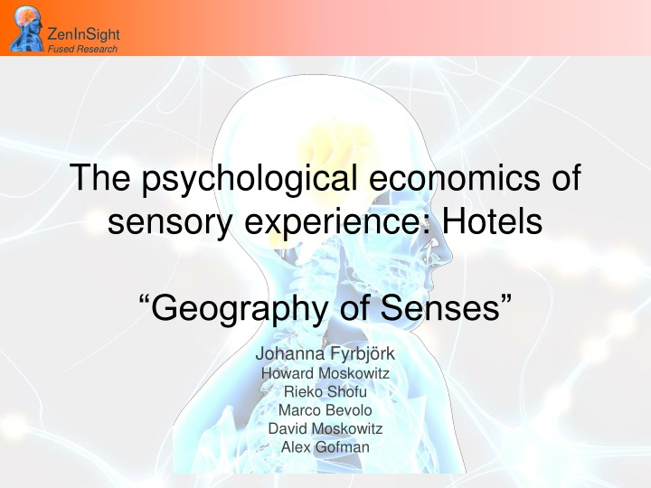 the psychological economics of sensory experience hotels geography of senses n.