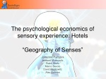 the psychological economics of sensory experience hotels geography of senses