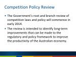 competition policy review