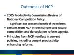 outcomes of ncp