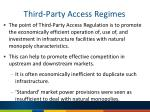 third party access regimes