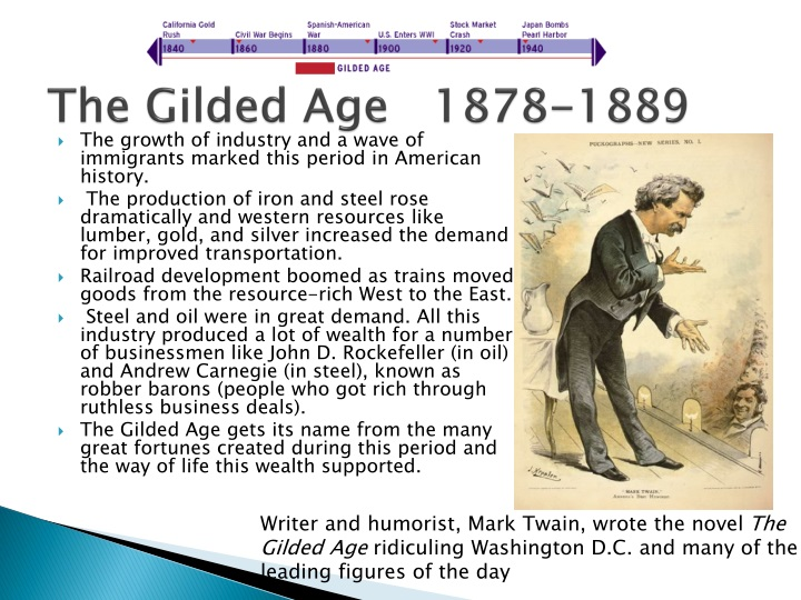 the period known as the gilded age history essay Start studying us history gilded age terms learn vocabulary, terms, and more with flashcards, games, and other study tools.