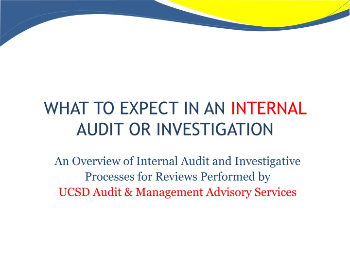 what to expect in an internal audit or investigation n.