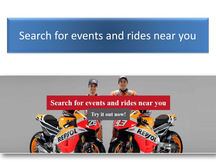 search for events and rides near you n.