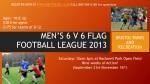 men s 6 v 6 flag football league 2013