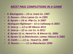 most pass completions in a game