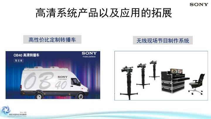高清系统产品以及应用的拓展