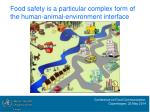food safety is a particular complex form of the human animal environment interface
