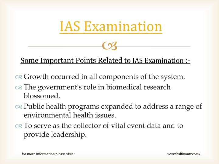 Ias examination