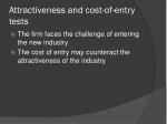 attractiveness and cost of entry tests