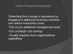 costs of corporate complexity