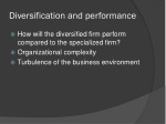 diversification and performance