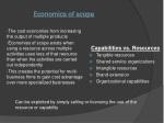 economics of scope