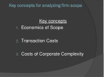 key concepts for analyzing firm scope