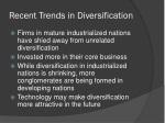 recent trends in diversification