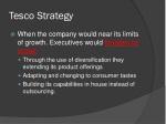 tesco strategy