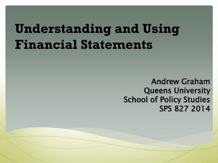 understanding and using financial statements n.