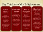 key thinkers of the enlightenment