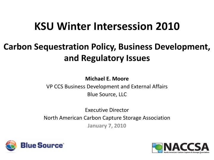 Carbon sequestration policy business development and regulatory issues