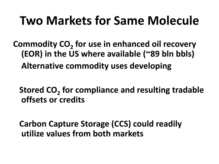 Two Markets for Same Molecule