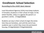enrollment school selection1