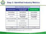 step 3 identified industry metrics3