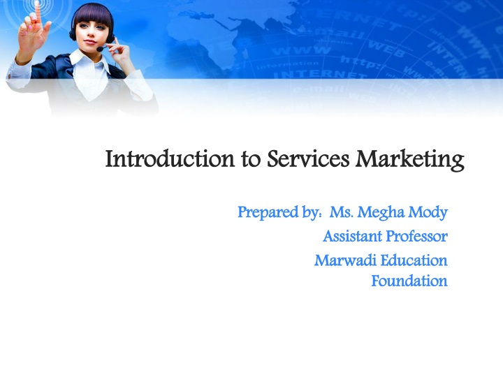 introduction to services marketing n.