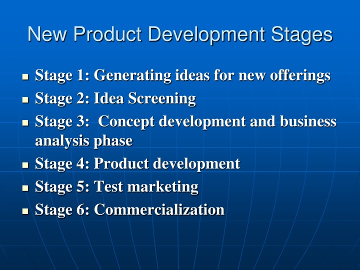 New Product Development Stages