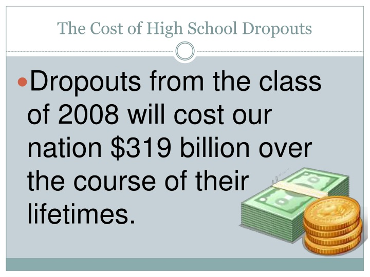 The Cost of High School Dropouts