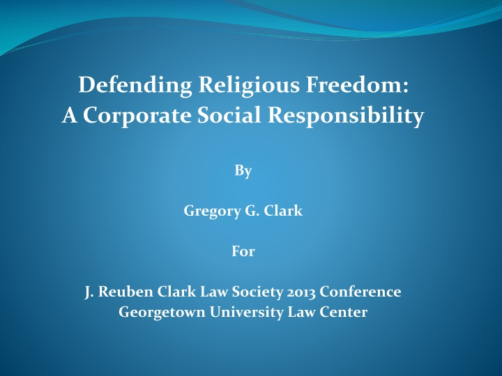 defending religious freedom a corporate social n.