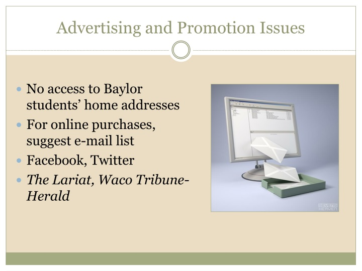 Advertising and Promotion Issues