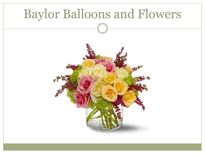 Baylor balloons and flowers