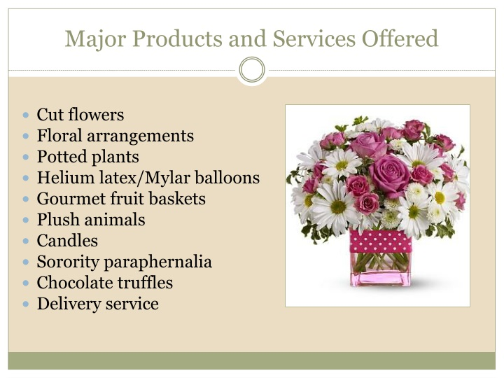 Major Products and Services Offered