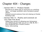 chapter 404 changes