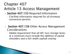 chapter 407 article 13 access management