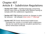 chapter 407 article 8 subdivision regulations