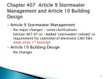 chapter 407 article 9 stormwater management and article 10 building design