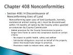 chapter 408 nonconformities