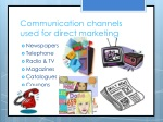 communication channels used for direct marketing