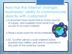 how has the internet changes businesses ability to communicate directly with customers