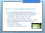 pull vs push sales promotion