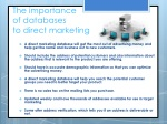 the importance of databases to direct marketing