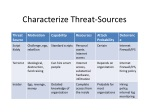 characterize threat sources