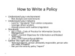 how to write a policy