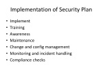 implementation of security plan
