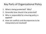 key parts of organizational policy