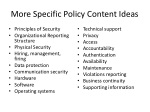 more specific policy content ideas