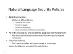 natural language security policies